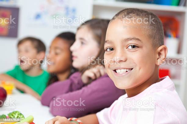 Cute elementary boy having lunch at school with classmates picture id184842605?b=1&k=6&m=184842605&s=612x612&h=wtthhuk8lkqv9ikrhc2r2hcyqtwirjkhfjp7ukyhjyc=