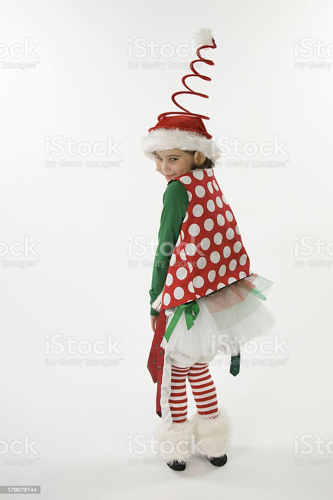 Cute Elf withPolka Dots royalty-free stock photo