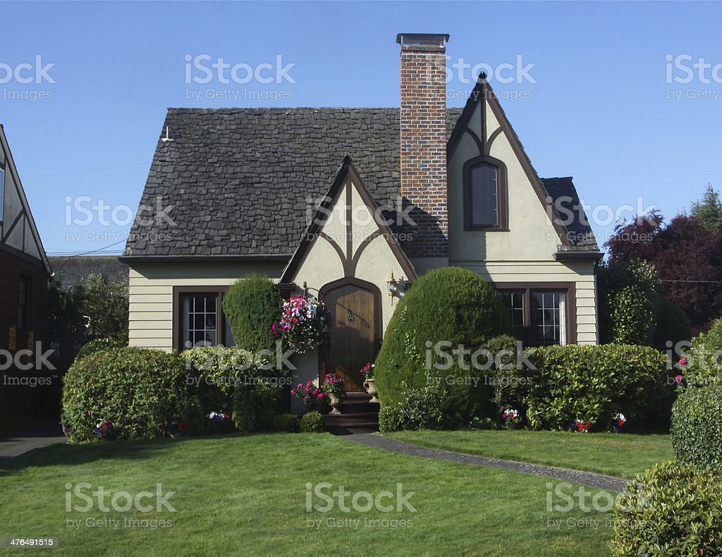 Cute English Style Home stock photo
