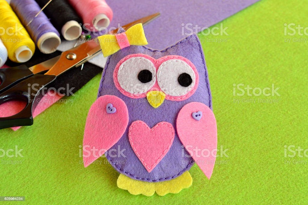 Cute Felt Owl Kids Crafts Stock Photo Download Image Now