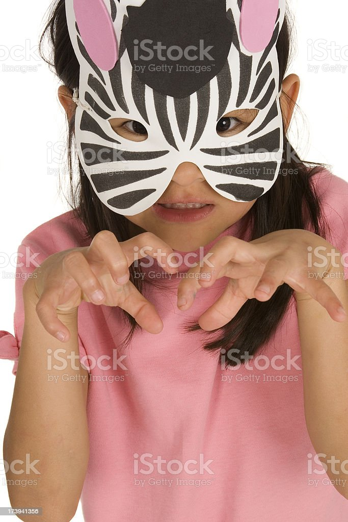 Cute Ferocious Zebra royalty-free stock photo