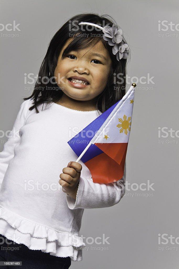 Cute Filipino Girl stock photo