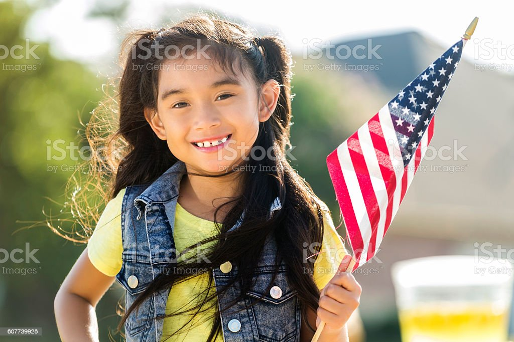 Cute filipino girls holds american flag stock photo more pictures cute filipino girls holds american flag royalty free stock photo altavistaventures Image collections