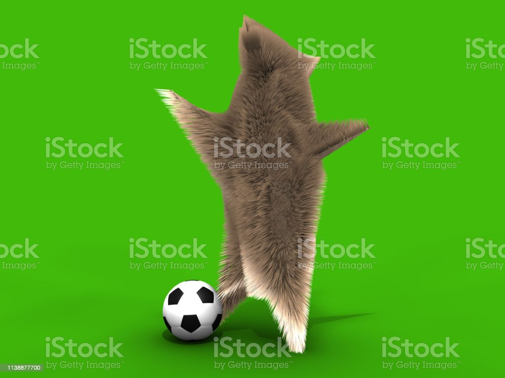 Cute Footballer Squirrel Yelling Stock Photo - Download Image Now