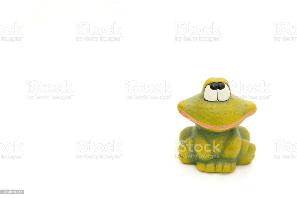 Cute frog stock photo