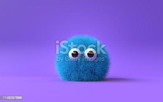istock cute furry monster 1149267868