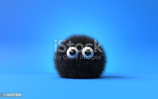 istock cute furry monster 1149267939
