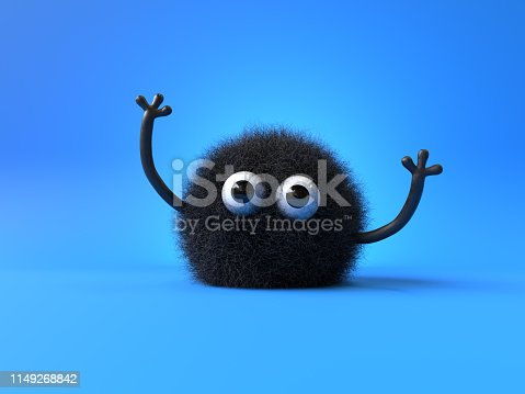 istock cute furry monster 1149268842
