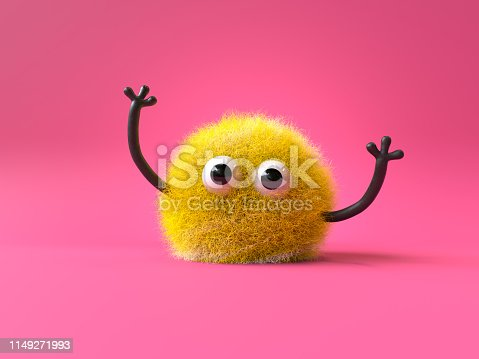 istock cute furry monster 1149271993