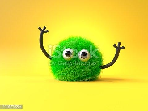 istock cute furry monster 1149272224