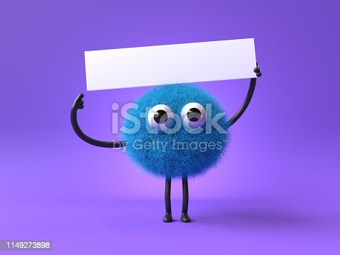 istock cute furry monster 1149273898