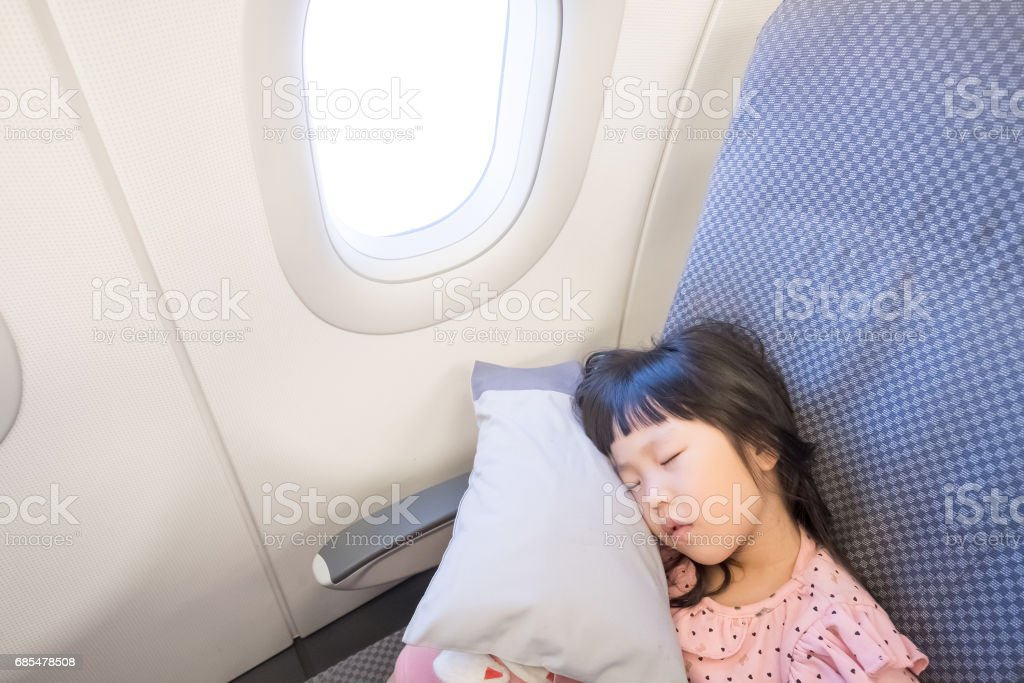 cute gilrl sleeping stock photo