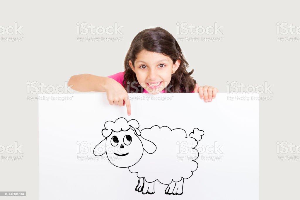 Cute girl celebrating Eid ul Adha - Happy Feast stock photo