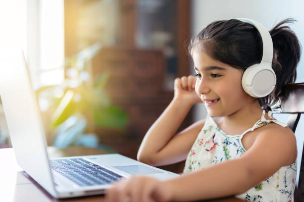 Cute Girl Distance Learning
