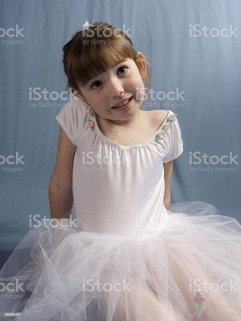 Cute Girl in a Ballerina Dress royalty-free stock photo