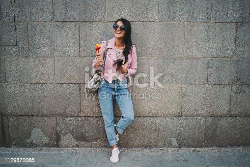 Teenage girl enjoying an ice-cream