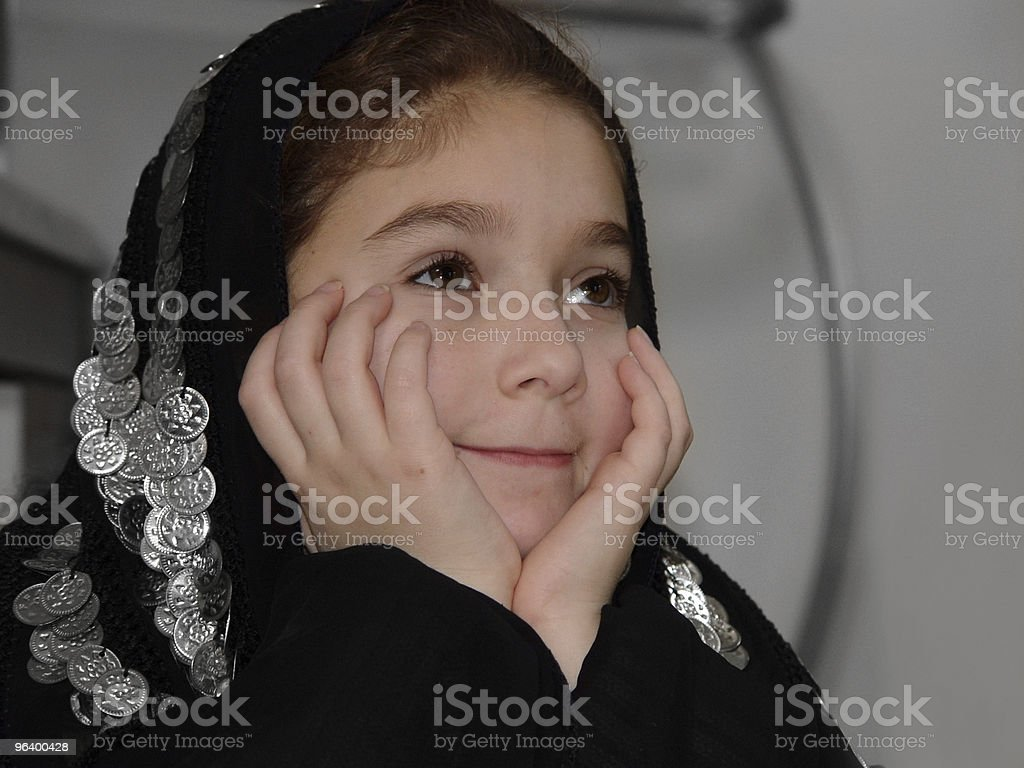 Cute girl in traditional clothes - Royalty-free Anthropomorphic Stock Photo