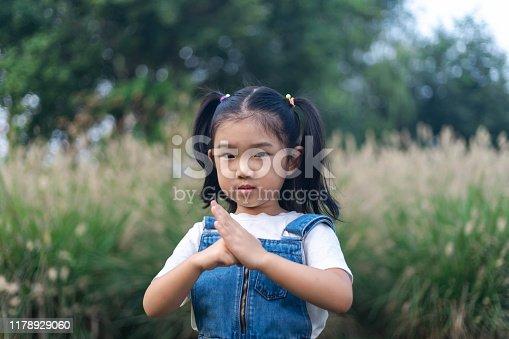 Cute Girl Performance Chinese Kung Fu Saluting