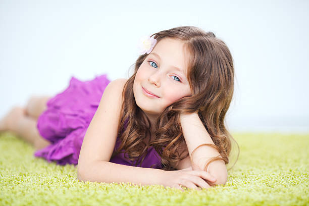 Cute girl. stock photo