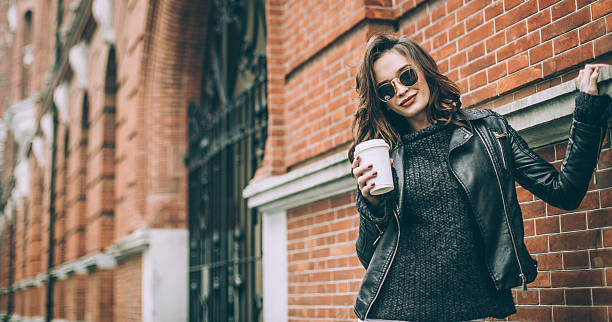 cute girl - hipster fashion stock photos and pictures