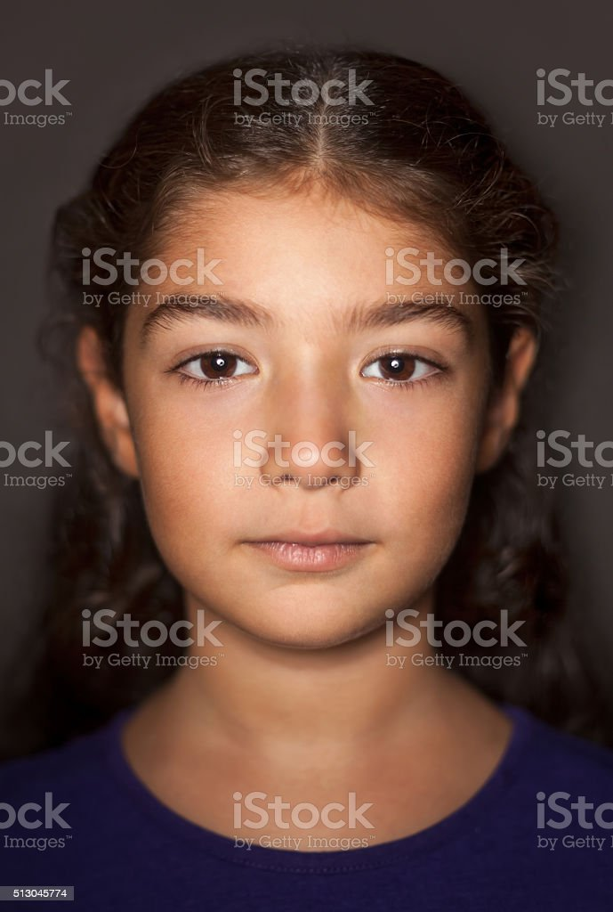 Cute girl portrait stock photo
