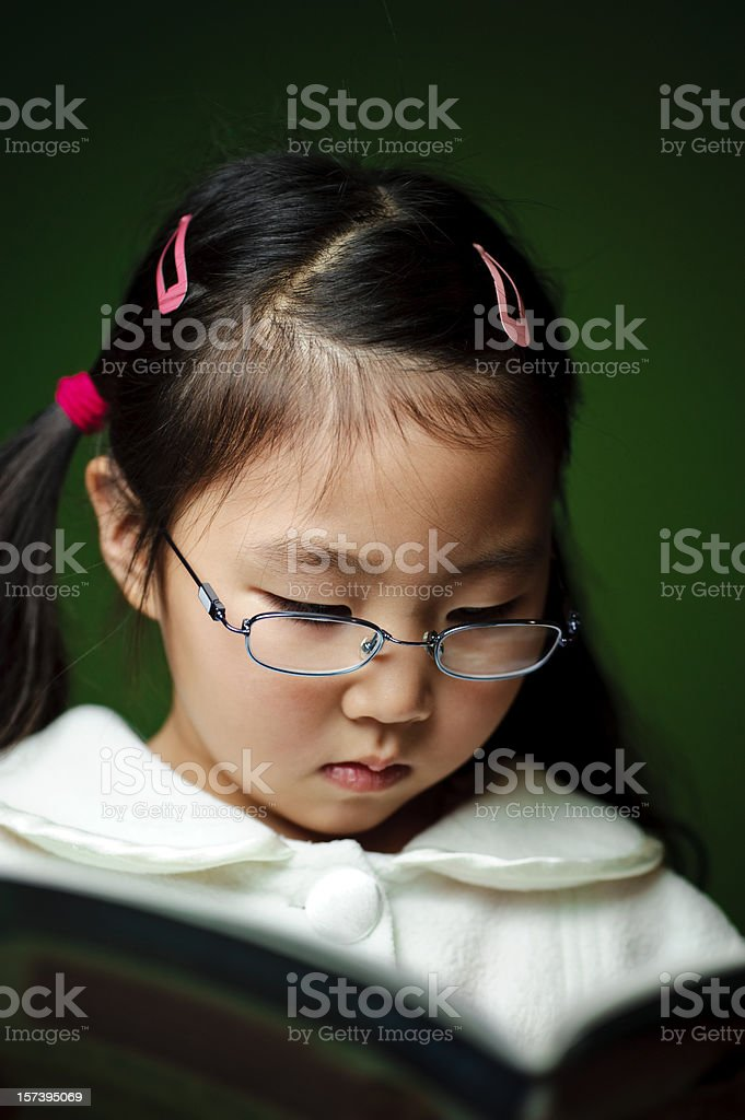 Cute Girl Reading royalty-free stock photo