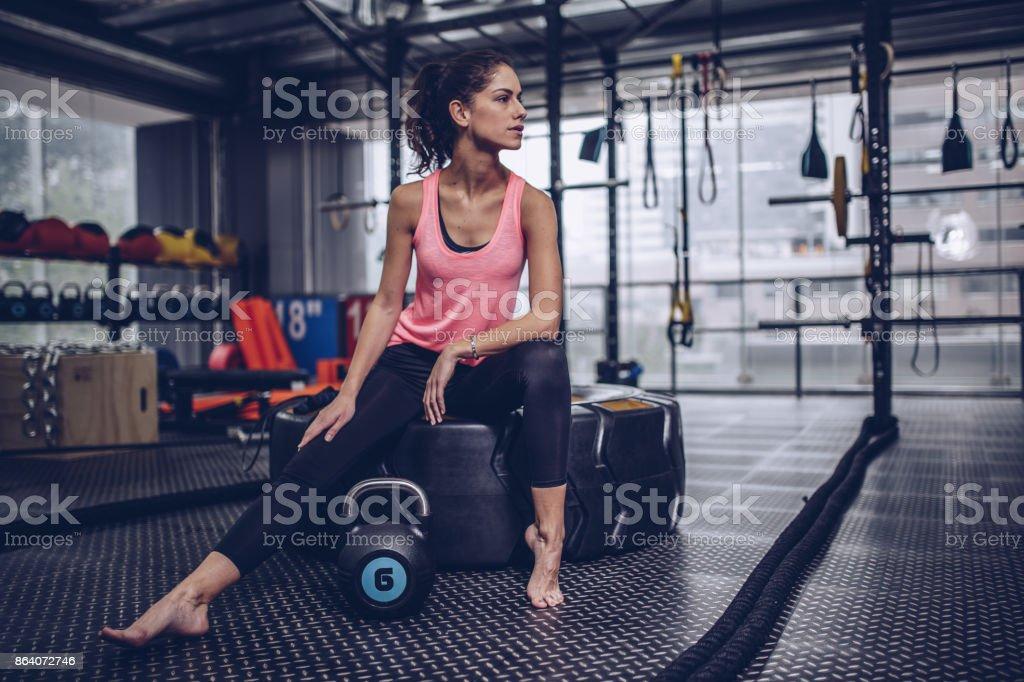 Cute girl in gym