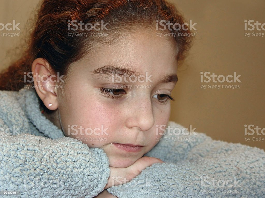 Cute girl thinking hard - Royalty-free Adolescence Stock Photo
