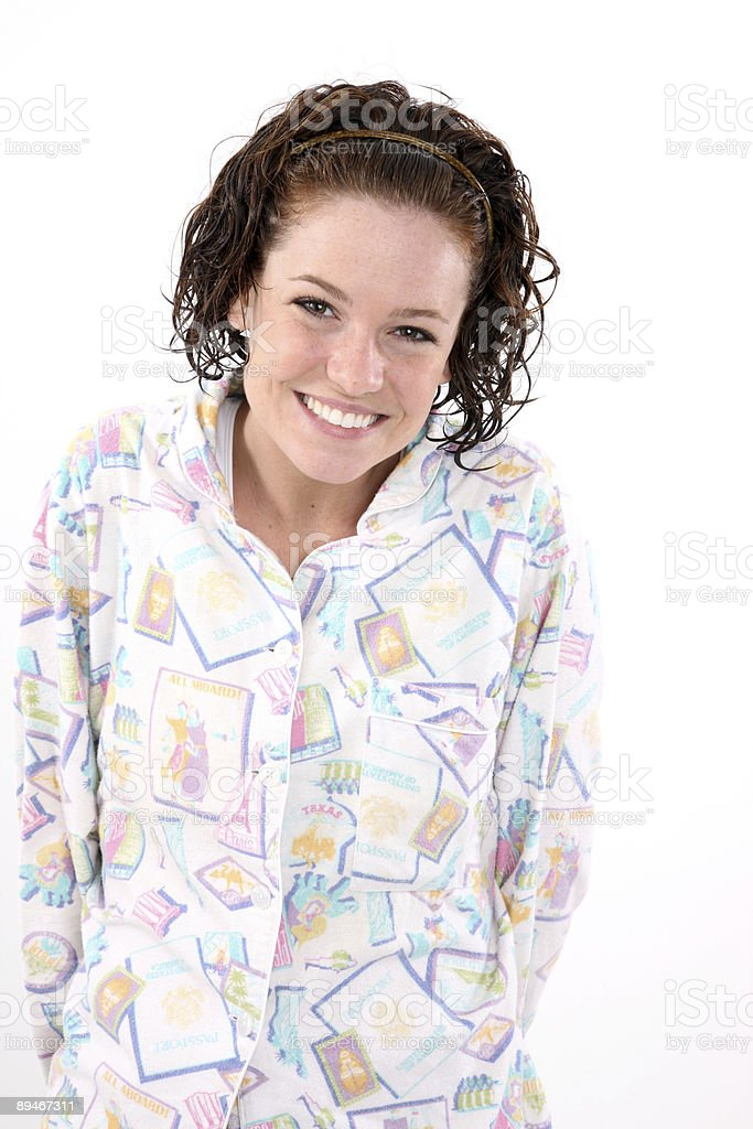 Cute girl wearing Pj's royalty-free stock photo