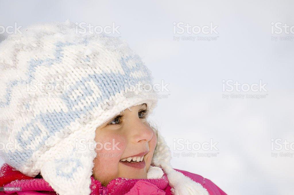 Cute girl winter portrait royalty-free stock photo