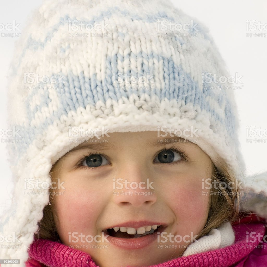 Cute girl winter portrait royalty-free stock photo