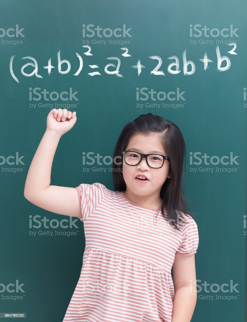 Cute Girl With Math Formula Stock Photo & More Pictures of Adult ...