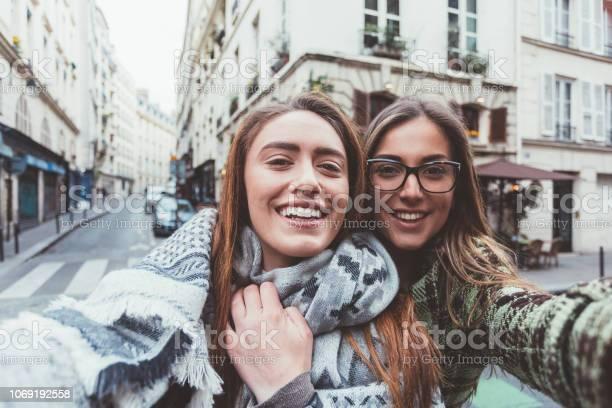 Cute girls taking selfies on paris trip picture id1069192558?b=1&k=6&m=1069192558&s=612x612&h=vnzty0pqyckl7eccgmuz3vyc0hslx27fffq7rpeyewk=