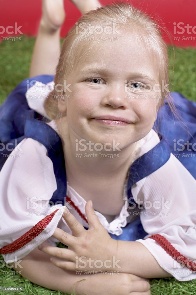 Cute girly smile royalty-free stock photo