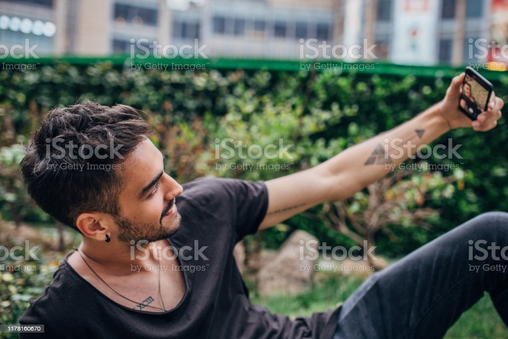 Cute Guy Taking Selfie Stock Photo Download Image Now Istock