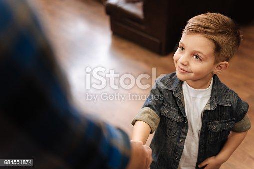 istock Cute happy boy smiling 684551874