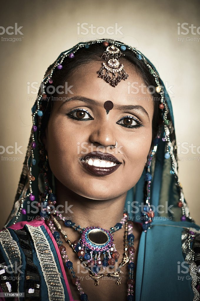 Cute Indian Woman royalty-free stock photo