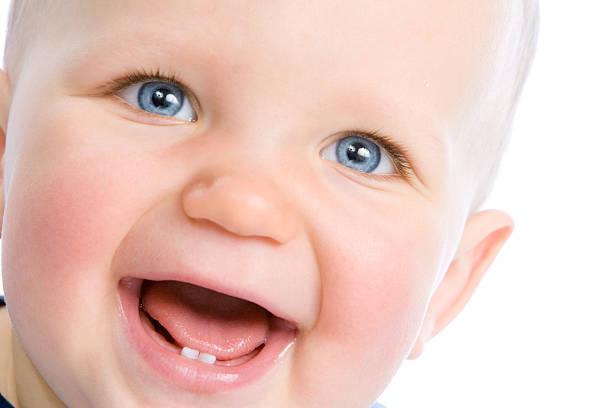 cute infant laughing - baby teeth stok fotoğraflar ve resimler