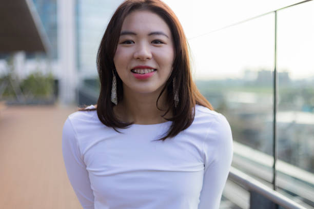cute Japanese girl stock photo