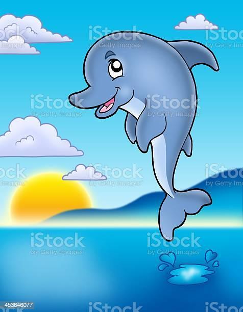 Cute jumping dolphin with sunset picture id453646077?b=1&k=6&m=453646077&s=612x612&h=dtgfmxd45zlytw x9zga4ljz426damjnfaqtl9u9lew=
