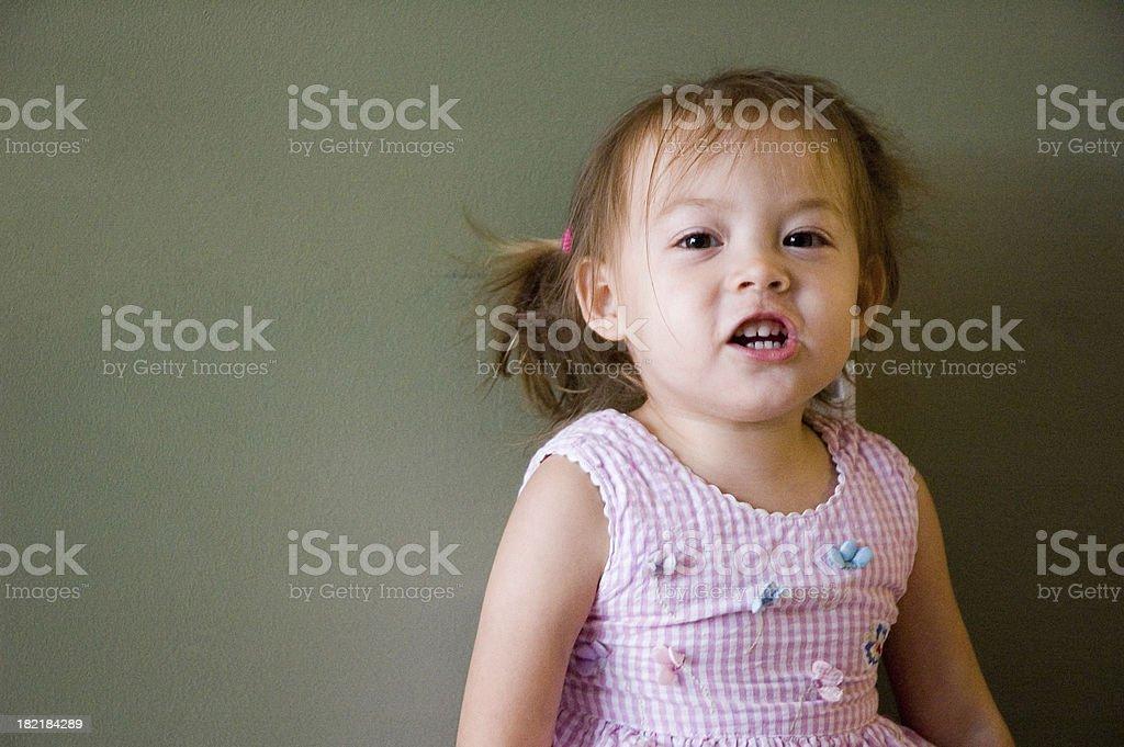 Cute Kid Talking royalty-free stock photo