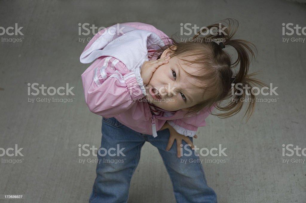 Cute Kid - Terrible Twos royalty-free stock photo