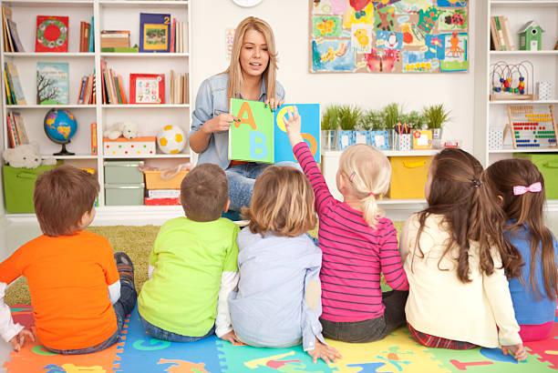 Jolie enfants kindergarden. - Photo