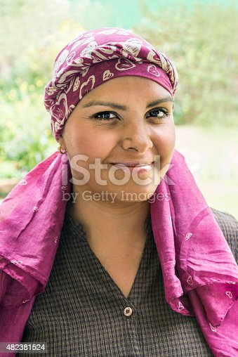 469949126 istock photo Cute Latin cancer patient 482381524