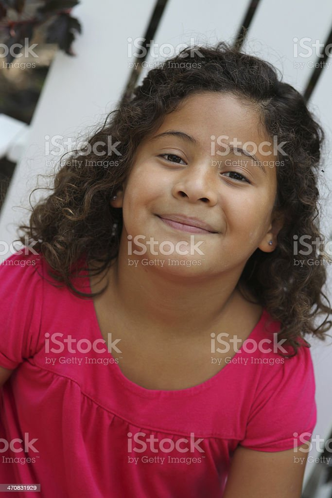 Cute Latina girl in nature royalty-free stock photo
