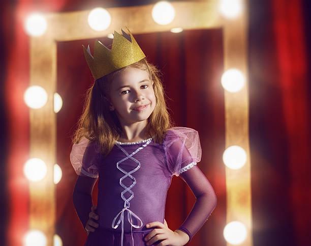 cute little actress. - mädchen vorhänge stock-fotos und bilder