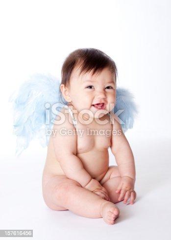 istock cute little angel 157616456