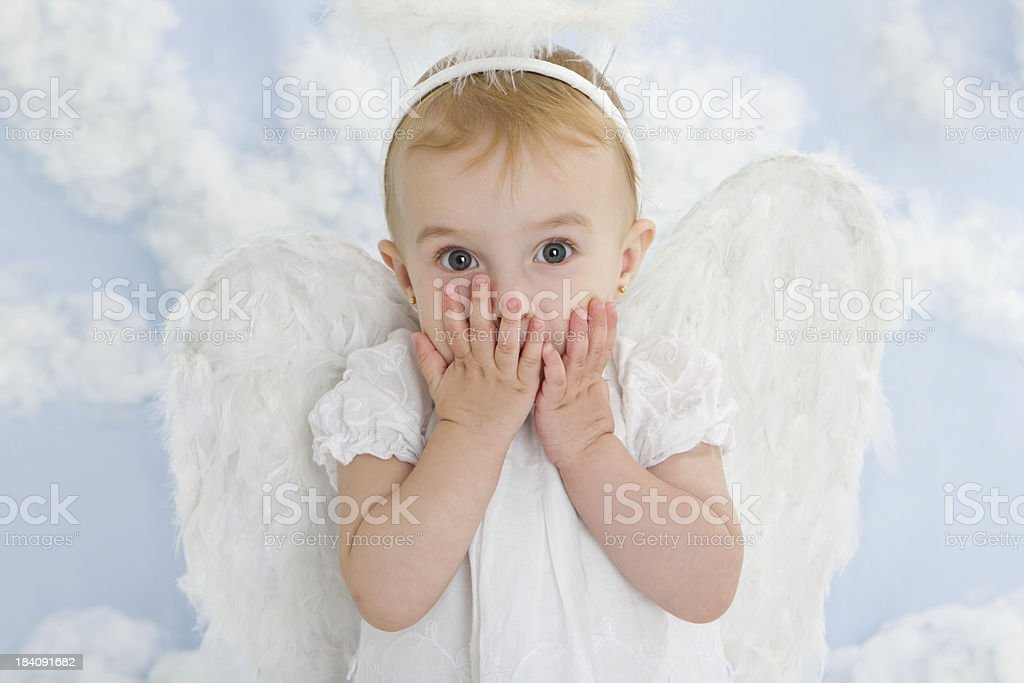 Cute little angel royalty-free stock photo