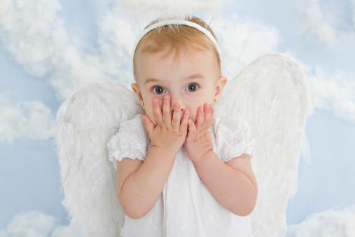 istock Cute little angel 184091682