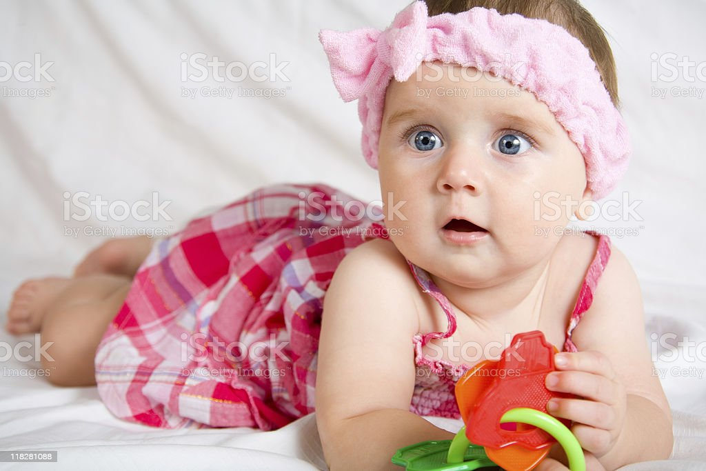 Cute little baby girl stock photo more pictures of baby istock cute little baby girl royalty free stock photo voltagebd Choice Image